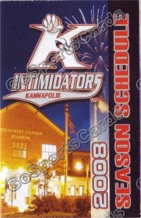 2008 Kannapolis Intimidators Pocket Schedule