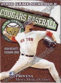 2009 Kane County Cougars Beckett Pocket Schedule