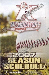2007 Kannapolis Intimidators Pocket Schedule