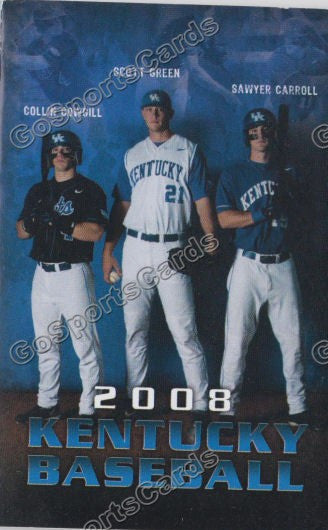 Collin Cowgill Sawyer Carroll Scott Green 2008 Kentucky Wildcats Pocket Schedule