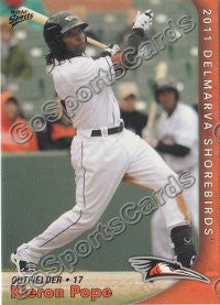 2011 Delmarva Shorebirds Kieron Pope