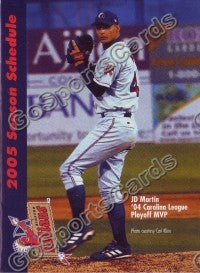 2005 Kinston Indians Martin Pocket Schedule