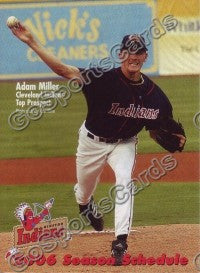 2006 Kinston Indians Pocket Schedule (Adam Miller)