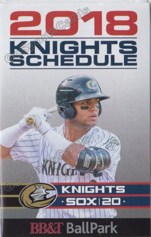 2018 Charlotte Knights Pocket Schedule (Yoan Moncada)