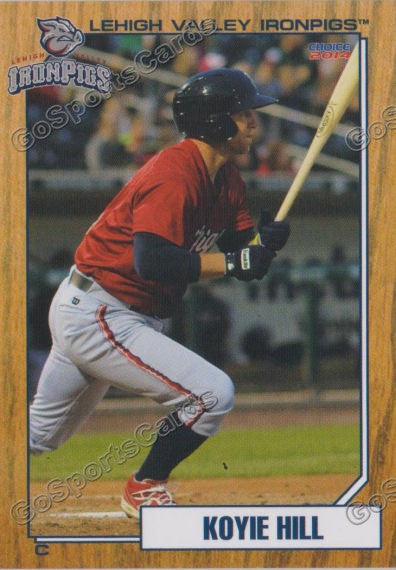 2014 Lehigh Valley IronPigs 2nd Koyie Hill