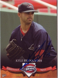Kyle Fernandes 2007 MultiAd Sports Greenville Drive (Autograph)