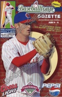 Kyle Kendrick 2007 Reading Phillies Gazette Program (SGA)