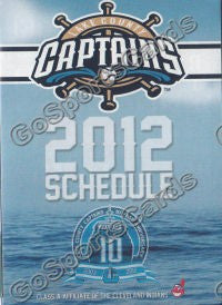 2012 Lake County Captains Pocket Schedule 10 Year Anniversary