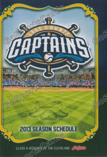 2013 Lake County Captains Pocket Schedule