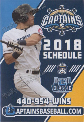 2018 Lake County Captains Pocket Schedule