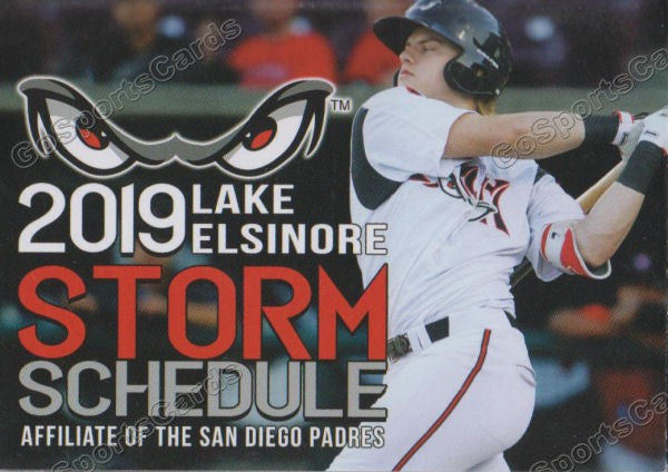2019 Lake Elsinore Storm Pocket Schedule