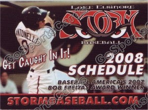 2008 Lake Elsinore Storm Pocket Schedule