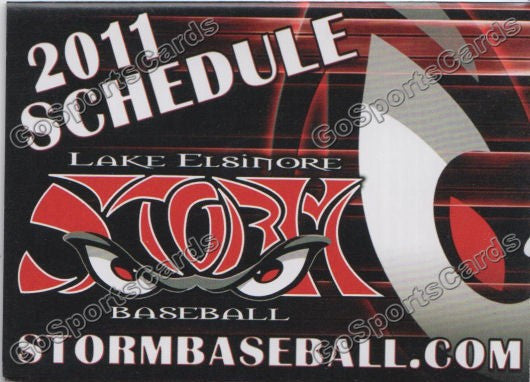 2011 Lake Elsinore Storm Pocket Schedule