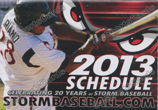 2013 Lake Elsinore Storm Pocket Schedule (Rymer Liriano)