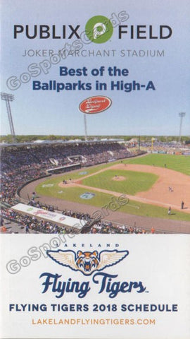 2018 Lakeland Flying Tigers Pocket Schedule