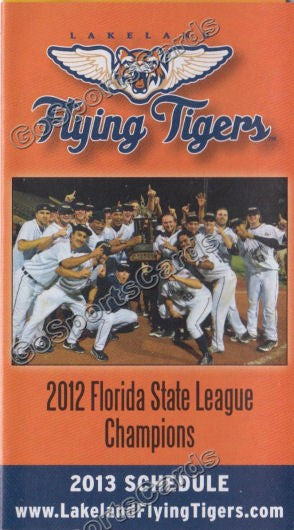 2013 Lakeland Flying Tigers Pocket Schedule (2012 FSL Champions)