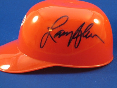 Larry Anderson Philadelphia Phillies Mini Helmet Autograph