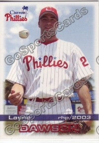 2003 Clearwater Phillies Layne Dawson