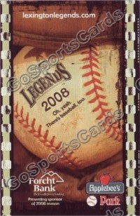 2008 Lexington Legends Pocket Schedule