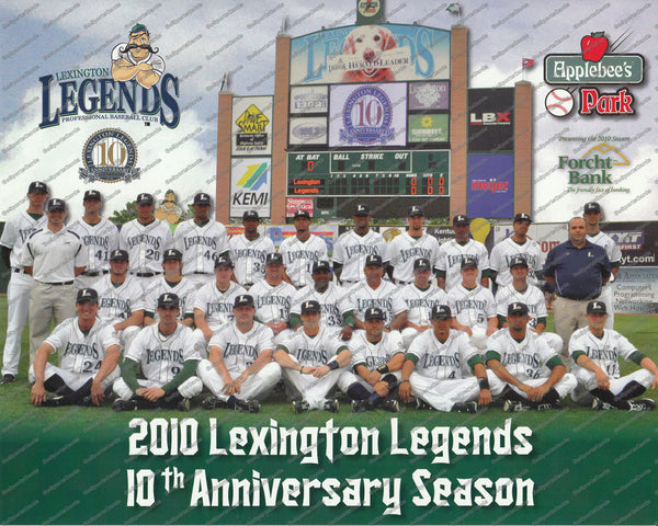 2010 Lexington Legends Team Photo 8x10