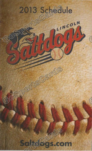 2013 Lincoln Salt Dogs Pocket Schedule