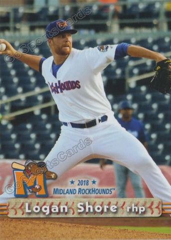 2018 Midland RockHounds Logan Shore