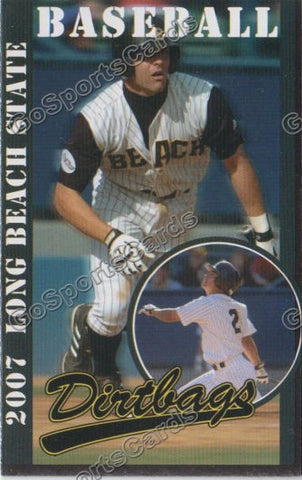 Danny Espinosa 2007 Long Beach State Dirtbags Pocket Schedule