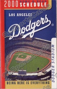 2000 Los Angeles Dodgers Pocket Schedule