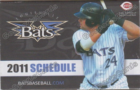 2011 Louisville Bats Pocket Schedule (Yonder Alonso)