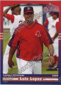 2008 Lowell Spinners Luis Lopez