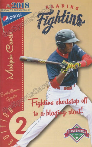 Malquin Canelo 2018 Reading Fightin Phils Program (SGA)