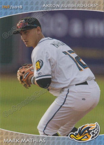 2018 Akron Rubber Ducks Mark Mathias