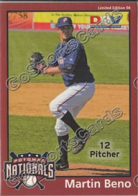 2010 Potomac Nationals DAV Martin Beno