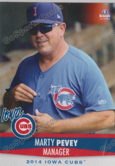 2014 Iowa Cubs Marty Peavey