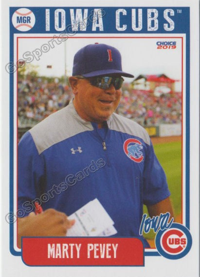 2019 Iowa Cubs Marty Peavey