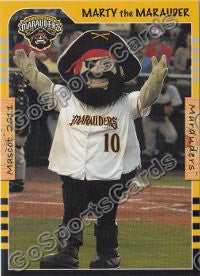 2011 Bradenton Marauders Marty the Marauder