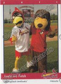 2011 Springfield Cardinals Louie and Fetch Mascots