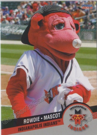 2014 Indianapolis Indians Rowdie Mascot