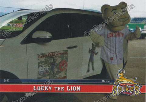 2017 State College Spikes Lucky The Lion Mascot