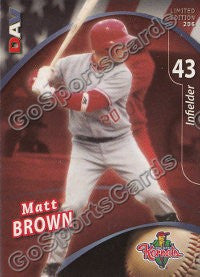 2009 Cedar Rapids Kernels DAV Matt Brown