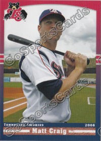2008 Tennessee Smokies Matt Craig