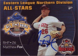 Matthew Matt Fox 2009 Eastern League All Star (Autograph)