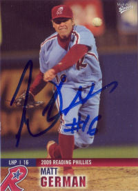 Matt German 2009 Reading Phillies (Autograph)