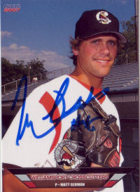 Matt German 2007 Williamsport Crosscutters (Autograph)