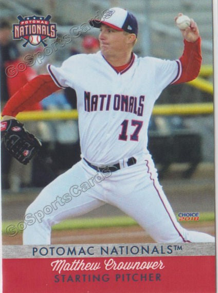 2018 Potomac Nationals Matthew Crownover