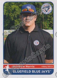 2012 Bluefield Blue Jays Matthew Harris