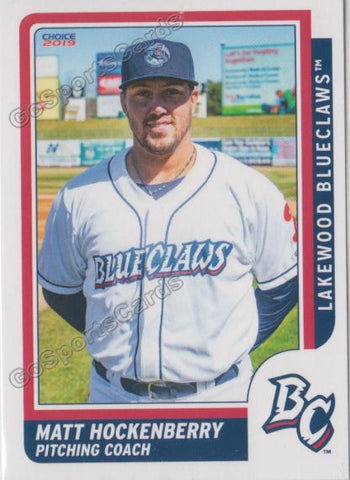 2019 Lakewood BlueClaws Matt Hockenberry
