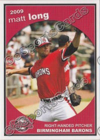 2009 Birmingham Barons Matt Long