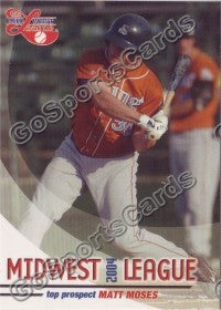 2004 Midwest League Top Prospects Matt Moses