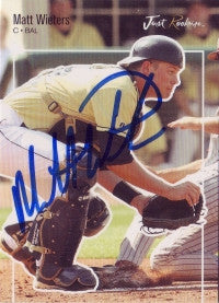 Matt Wieters 2007 Just Minors Just Rookies #62 (Autograph)